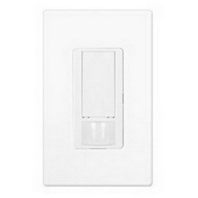 Lutron MS-OPS6M2N-DV-WH Lutron® MS-OPS6M2N-DV-WH Wall Mount Passive Infrared Occupancy Sensor Switch; 120 Volt, 900 Sq ft, White