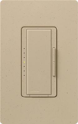 Lutron MSCELV-600M-DS Lutron MSCELV-600M-DS 1-Pole Dimmer Switch, 120 V, 600 W, Desert Stone