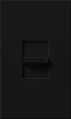 Lutron N-1000-BL Lutron N-1000-BL Nova® Small Control Slide-To-Off Dimmer; 120 Volt AC, Black Color Gloss Finish, Wall Box Mount