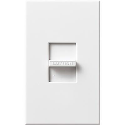 Lutron N-600-WH Lutron N-600-WH Nova® Single Pole Small Control Slide-To-Off Dimmer; 120 Volt AC, 600 Watt, Incandescent/Halogen, White