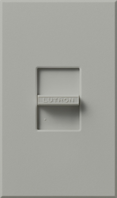 Lutron NF-10-GR Lutron NF-10-GR Nova® Single Pole Small Control Fluorescent Slide Dimmer with Magnetic Ballasts; 120 Volt AC, 16 Amp, Gray