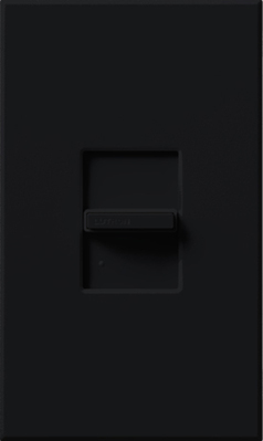 Lutron NT-603P-BL Lutron NT-603P-BL Nova-T® Single Pole 3-Way Small Control Preset Slide Dimmer; 120 Volt AC, 600 Watt, Incandescent/Halogen, Black