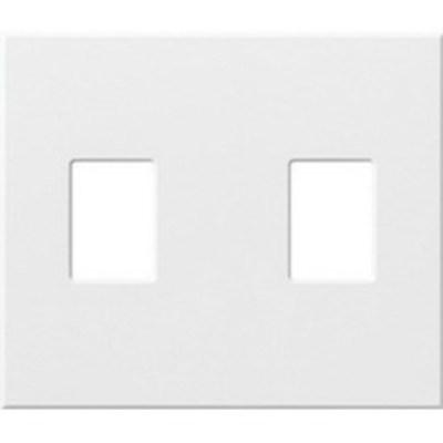 Lutron NT-S-NFB-IV Lutron NT-S-NFB-IV Nova-T® No Fins Broken 1-Gang Wallplate; Wall Mount, Plastic, Ivory
