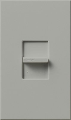 Lutron NTSTV-DV-GR Lutron NTSTV-DV-GR Nova-T® Single Pole Small Control Fluorescent Slide-To-Off Dimmer; 0 - 10 Volt DC, Gray