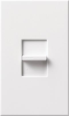 Lutron NTSTV-DV-WH Lutron NTSTV-DV-WH Nova-T® Single Pole Small Control Fluorescent Slide-To-Off Dimmer; 0 - 10 Volt DC, White