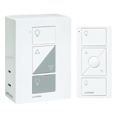 Lutron P-PKG1P-WH Lutron® P-PKG1P-WH Caséta Smart Home Plug-in Lamp Dimmer Switch and Pico Remote Kit, Works with Alexa, Apple HomeKit, and The Google Assistant, White