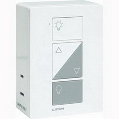 Lutron PD-3PCL-WH Lutron PD-3PCL-WH Caseta™ C.L™ 3-Way Plug-in Lamp Dimmer; 120 Volt AC, White Color Gloss Finish, Plug-In Mount