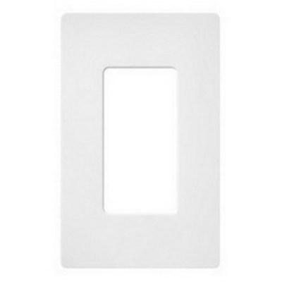 Lutron SC-1-SW Lutron SC-1-SW Designer Satin Colors® 1-Gang Screwless Decorator Wallplate; Wall Mount, Plastic, Snow White
