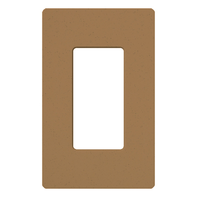 Lutron SC-1-TC Lutron SC-1-TC Designer Satin Colors® 1-Gang Screwless Decorator Wallplate; Wall Mount, Plastic, Terracotta