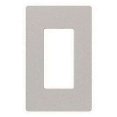 Lutron SC-1-TP Lutron SC-1-TP Designer Satin Colors® 1-Gang Screwless Decorator Wallplate; Wall Mount, Plastic, Taupe