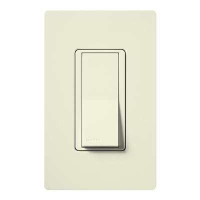 Lutron SC-1PS-BI Lutron SC-1PS-BI Claro® Satin Color® General Purpose Switch; 1-Pole, 120/277 Volt, 15 Amp, Biscuit