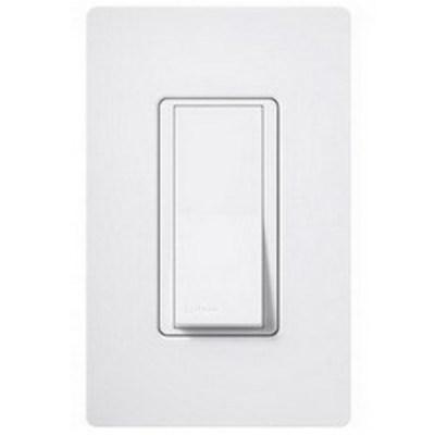 Lutron SC-1PS-SW Lutron SC-1PS-SW Claro® Satin Color® General Purpose Switch; 1-Pole, 120/277 Volt, 15 Amp, Snow White