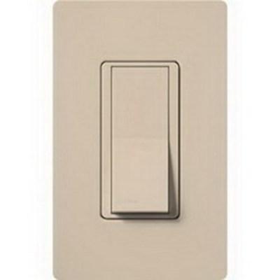 Lutron SC-1PS-TP Lutron SC-1PS-TP Satin Color® General Purpose Switch; 120/277 Volt, 15 Amp, Taupe Color Satin Finish, Wall Box Mount