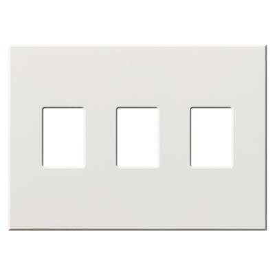 Lutron VWP-3-WH Lutron VWP-3-WH Vareo/Nova 3-Gang Decorator Wallplate; Wall Mount, Plastic, White