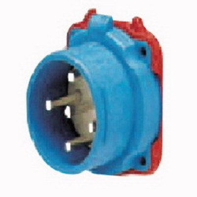 Meltric Plugs & Receptacles 33-68043 Meltric 33-68043 Decontactor™ DS60 Male Switch Rated Inlet; 60 Amp, 480 Volt, 3-Pole, 4-Wire, NEMA 3R, Blue