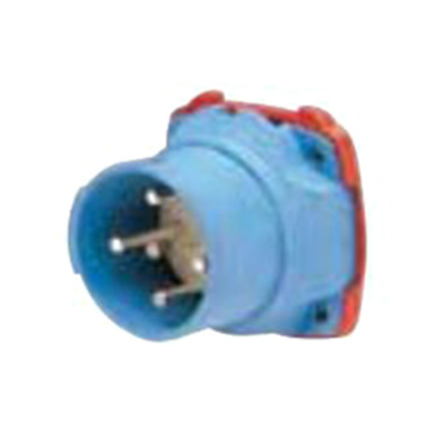 Meltric Plugs & Receptacles 63-38047 Meltric 63-38047 Decontactor™ DSN30 Switch Rated Inlet; 30 Amp, 277/480 Volt AC, 3-Pole, 5-Wire, NEMA 4X, Blue