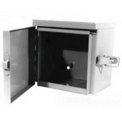 Milbank 242410-TC3R Milbank 242410-TC3R Telephone Cabinet; 24 Inch Width x 10 Inch Depth x 24 Inch Height, Wall Mount, 16/14/12/11 Gauge G90 Galvanized Steel, ANSI 61 Gray