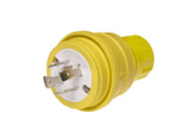 Molex / Woodhead Connector 26W75 Pass & Seymour 26W75 Turnlok® Locking Watertight Plug; 3-Pole, 250 Volt, 20 Amp