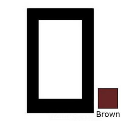 Mulberry 82401 Mulberry 82401 1-Gang Duplex GFI Receptacle Wallplate; Cold Rolled Steel, Brown