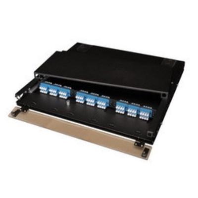 Multilink 045-339-10 Multi-Link 045-339-10 Slide-Out Removable Top Style Fiber Distribution Unit; Rack Mount, 1-Rack Unit, Black