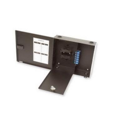 Multilink 10-2012 Multi-Link 10-2012 Standard Single Outer Door Fiber Distribution Unit; Wall Mount, 12-Port, Black
