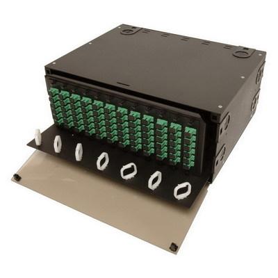 Multilink 10-4534 Multi-Link 10-4534 Slide-Out Style Fiber Distribution Unit; Rack Mount, 4-Rack Unit, Black