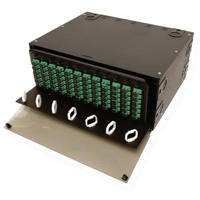 Multilink 10-4536 Multilink 10-4536MULTILK Slide-Out Style Fiber Distribution Unit; 4U, 16 Gauge Steel, Aluminum, Black