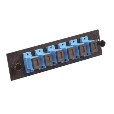 Multilink 10-4810 Multi-Link 10-4810 SC/UPC Loaded Fiber Adapter Panel; Singlemode, 6 Simplex Fibers, Blue/Black, 6/Pack