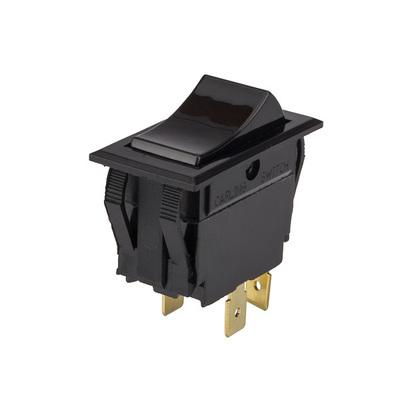 NSI 77010RQ NSI 77010RQ Rocker Switch With Indicator Light; 1 Pole, DPST, 120/250 Volt AC, 20 Amp At 120 Volt AC, 10 Amp At 250 Volt AC, Black