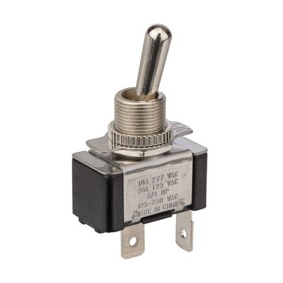 NSI 78120TQ NSI 78120TQ Toggle Switch; 1-Pole, SPST, 125/250 Volt AC, 20/10 Amp, Metallic