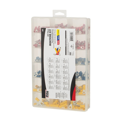 NSI MTK NSI MTK Terminal Assorted Kit; Vinyl Insulated, Red, Blue, Yellow, For Wire Termination