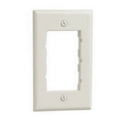 Panduit CBIW Panduit CBIW Mini-Com® 1-Gang Classic Faceplate Frame; Screw, Plastic, Off White