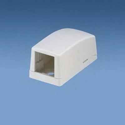 Panduit CBX1IW-A Panduit CBX1IW-A Mini-Com® Low Profile Surface Mount Box; ABS, Off-White, (1) Port