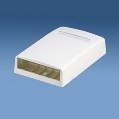 Panduit CBX4EI-AY Panduit CBX4EI-AY Mini-Com® Low Profile Surface Mount Box; ABS, Electric Ivory, (4) Port