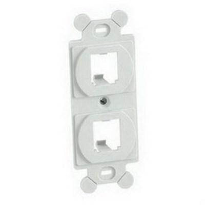 Panduit CF1062IGY Panduit CF1062IGY Mini-Com® Duplex Module Frame; (2) UTP, STP, Fiber-Optic, A/V Port, Plastic, International Gray