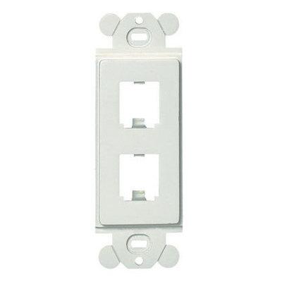 Panduit CFG2WH Panduit CFG2WH Mini-Com® GFCI Module Frame; Plastic, White, (2) Port