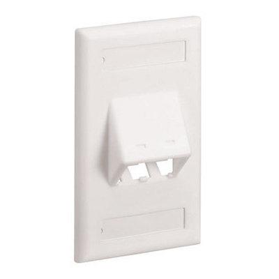 Panduit CFPSL2IWY Panduit CFPSL2IWY Mini-Com® 1 Gang Classic Series Sloped Faceplate; 2-Port, Screw Mount, ABS, Off White