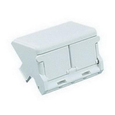 Panduit CHS2SIW-X Panduit CHS2SIW-X Shuttered Sloped Mini-Com Module Insert; Plastic, Off-White, (2) Port