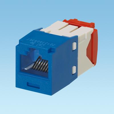 Panduit CJ5E88TGBU Panduit CJ5E88TGBU Mini-Com® TX5e™ Category 5e/Class D Jack Module; Wire Mount, 8P8C, Blue