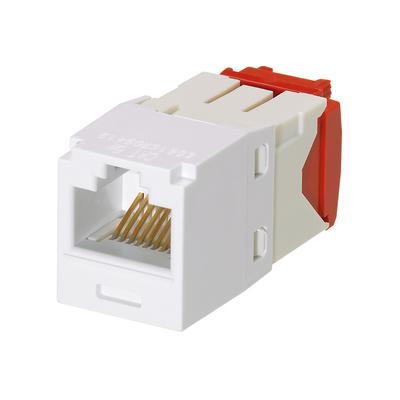 Panduit CJ5E88TGWH Panduit CJ5E88TGWH Mini-Com® TX5e™ Category 5e/Class D Jack Module; 8P8C, White