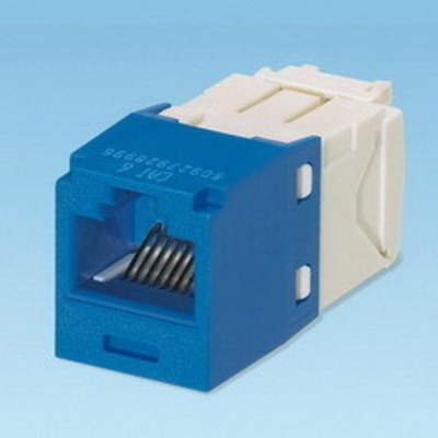 Panduit CJ688TGBU Panduit CJ688TGBU Mini-Com® TX6™ Category 6 RJ45 Jack Module; 8P8C, Blue