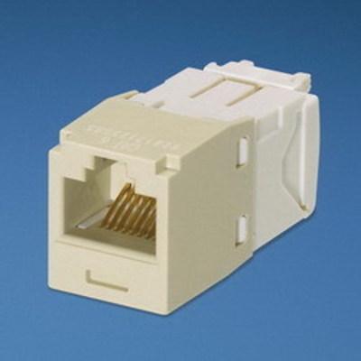 Panduit CJ688TGEI Panduit CJ688TGEI Mini-Com® TX6™ Category 6 RJ45 Jack Module; 8P8C, Electric Ivory
