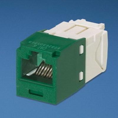 Panduit CJ688TGGR Panduit CJ688TGGR Mini-Com® TX6™ Category 6 RJ45 Jack Module; 8P8C, Green