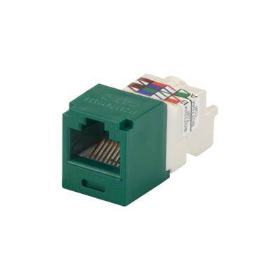 Panduit CJ688TPGR Panduit CJ688TPGR Mini-Com® TX6™ Category 6 RJ45 Jack Module; 8P8C, Green