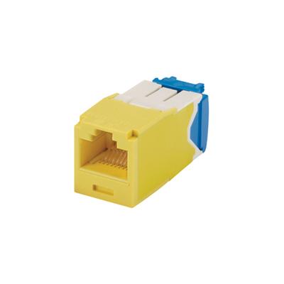 Panduit CJ6X88TGYL Panduit CJ6X88TGYL Mini-Com® TX6A™ 10Gig™ Category 6A RJ45 Jack Module with MaTriX Technology; 8P8C, Yellow