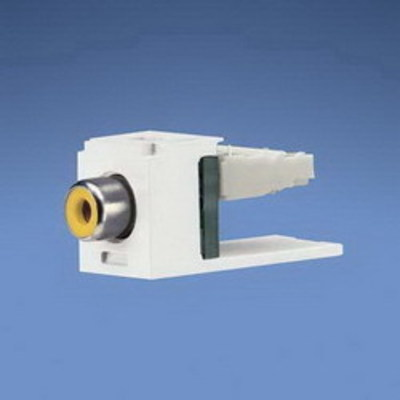Panduit CJRYEI Panduit CJRYEI Mini-Com® Straight RCA Punchdown Connector Module; Electric Ivory/Yellow