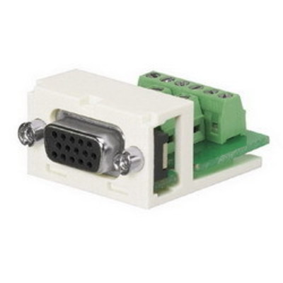 Panduit CMD15HDIWY Panduit CMD15HDIWY D-Subminature Module With Connector; 15-Pin, Off-White
