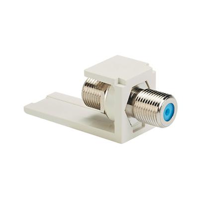 Panduit CMFWH Panduit CMFWH Mini-Com® Straight F-Type Coaxial Coupler Module; White