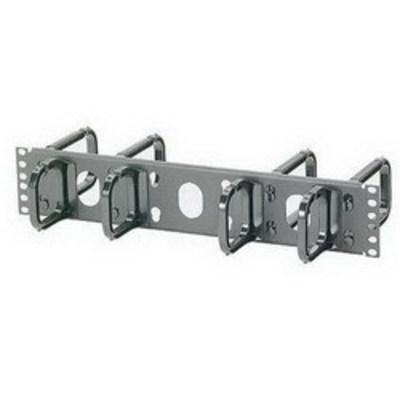 Panduit CMPH2W Panduit CMPH2W Open-Access™ Cable Management D-Ring With Cover; Horizontal Cabinet/Rack Mount, 2-Rack Unit, Black
