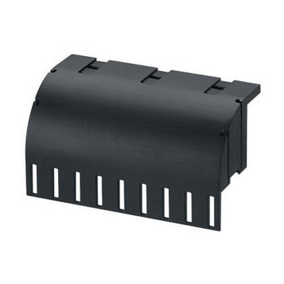 Panduit CMWB Panduit CMWB Cable Management Waterfall Base; 3.07 Inch Height x 5.24 Width x 1-3/4 Inch Depth, Glass Filled Flame-Retardant Nylon 6.6, For used to Maintain (44.5 mm) Bend Radius Control Vertically When Transferring Cable off of Ladder Rack